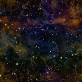 Abstract dark colorful universe.  Nebula night starry sky. Multicolor outer space.  Glittering galactic texture background. Stock Photos