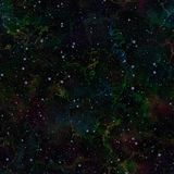 Abstract dark colorful universe.  Nebula night starry sky. Multicolor outer space.  Texture background. Seamless illustration. Abstract dark colorful universe Royalty Free Stock Photo