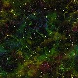 Abstract dark colorful universe.  Nebula night starry sky.. Multicolor shiny outer space.  Glittering galactic texture background. Seamless illustration Stock Photos