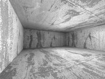 Abstract dark concrete empty room interior. 3d render illustration Stock Photos