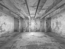 Abstract dark concrete empty room interior. 3d render illustration Royalty Free Stock Photos