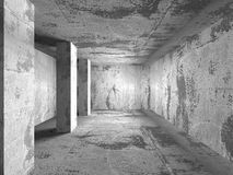Abstract dark concrete empty room interior. 3d render illustration Royalty Free Stock Images