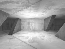 Abstract dark concrete empty room interior. 3d render illustration Stock Photo