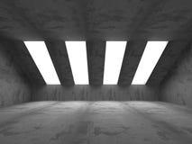 Abstract dark concrete empty room interior. 3d render illustration Royalty Free Stock Image