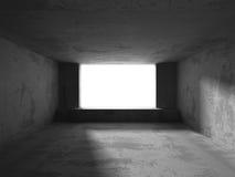 Abstract dark concrete empty room interior. 3d render illustration Royalty Free Stock Photo