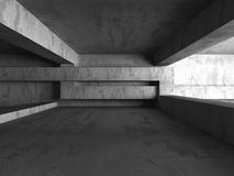 Abstract dark concrete empty room interior with light. 3d render illustration Royalty Free Stock Photos