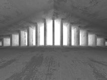 Abstract dark concrete empty room interior with light. 3d render illustration Stock Images