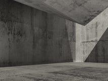 Abstract dark concrete interior background. Contemporary minimal architecture, 3d render illustration vector illustration
