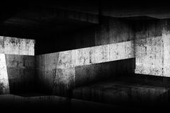 Abstract dark concrete interior background Stock Photos