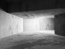 Abstract dark concrete walls room interior with light Stock Images