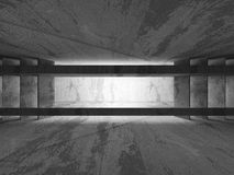 Abstract dark concrete walls room interior with light Royalty Free Stock Image