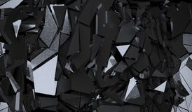 Abstract Dark Cracked Surface. 3D Rendering Of Abstract Dark Cracked Surface Background Royalty Free Stock Image