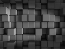 Abstract Dark Cubes Design Background. 3d Render Illustration Royalty Free Stock Photo