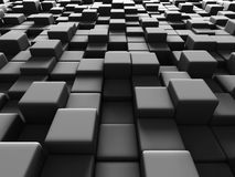 Abstract Dark Cubes Geometric Background Royalty Free Stock Photo