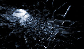 Abstract dark digital background, 3d art Royalty Free Stock Photography