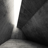 Abstract dark empty gray concrete interior 3 d. Abstract dark empty gray concrete interior. Modern architecture background, square 3d render Royalty Free Stock Photo