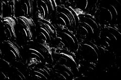 Abstract dark fish scale Stock Photo