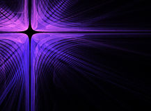 Abstract dark fractal cross background Royalty Free Stock Photography