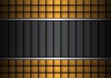 Abstract dark gray gold design modern background texture vector. Stock Photos