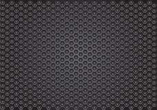 Abstract dark gray hexagon pattern design luxury background texture vector. Illustration Stock Images