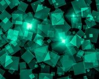 Abstract dark green bokeh wallpaper Stock Photos