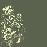 Abstract dark green floral background Royalty Free Stock Photography