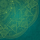 Abstract Dark Green Lace Stock Images