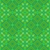 Abstract dark green tiled pattern, Ornate tile texture background, Seamless illustration Royalty Free Stock Images