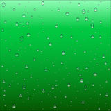 Abstract dark green and turquoise gradient background with clear. Water drops texture, vector illustration Stock Photos