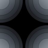 Abstract dark grey paper circles background Royalty Free Stock Photos