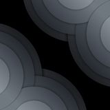 Abstract dark grey paper circles background Stock Photos