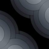 Abstract dark grey paper circles background Stock Photos
