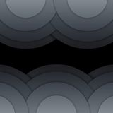 Abstract dark grey paper circles background Stock Photography