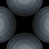 Abstract dark grey paper circles background Stock Photo