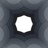 Abstract dark grey paper circles background Royalty Free Stock Photos