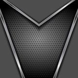 Abstract dark tech vector metallic background Royalty Free Stock Image