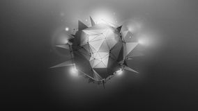Abstract dark grey wallpaper. With polygonal shape and light effects. Abstract dark grey background Royalty Free Illustration