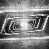 Abstract dark grungy concrete surreal tunnel interior Stock Image
