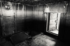 Abstract dark grungy interior, black and white Royalty Free Stock Images