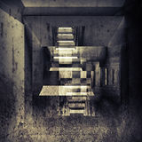 Abstract dark grungy interior illustration Royalty Free Stock Photos
