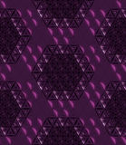 Abstract Dark Magenta seamless modern low poly background 3d rendering Stock Photography