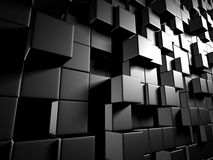 Abstract Dark Metallic Cubes Wall Background Royalty Free Stock Photo