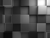Abstract Dark Metallic Cubes Wall Background Royalty Free Stock Images