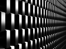 Abstract Dark Metallic Cubes Wall Background. 3d Render Illustration Royalty Free Stock Image