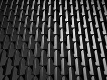 Abstract Dark Metallic Cubes Wall Background Royalty Free Stock Photography