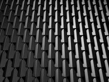 Abstract Dark Metallic Cubes Wall Background. 3d Render Illustration royalty free illustration