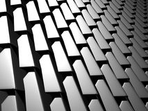 Abstract Dark Metallic Cubes Wall Background. 3d Render Illustration Stock Photography