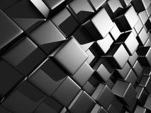 Abstract Dark Metallic Cubes Wall Background. 3d Render Illustration vector illustration
