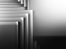 Abstract Dark Metallic Cubes Wall Background. 3d Render Illustration Royalty Free Stock Photos
