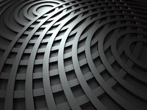 Abstract Dark Metallic Round Circles Design Background. 3d Render Illustration Royalty Free Stock Image